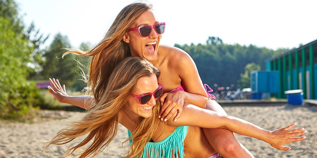 солнце, пигментация, пляж, девушки